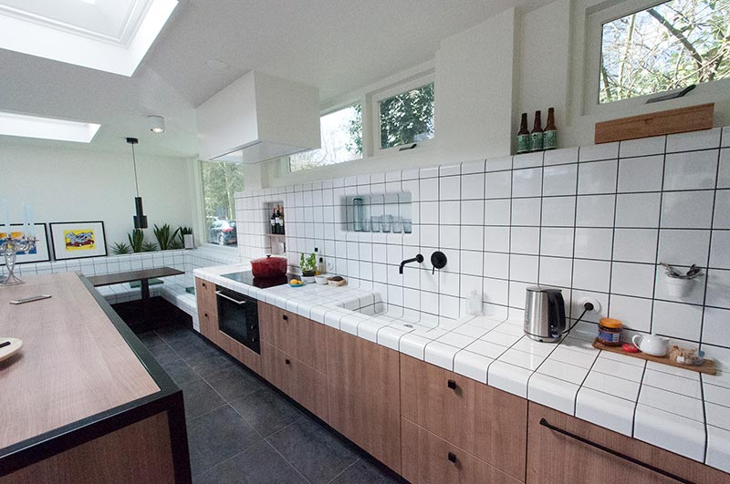 kitchendesign met 3d tegels