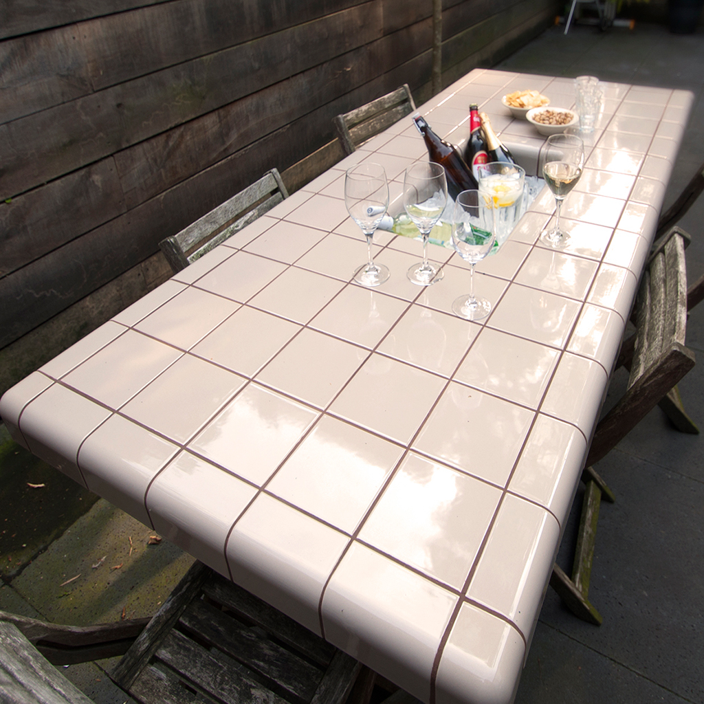 tiled table for chilled drinks