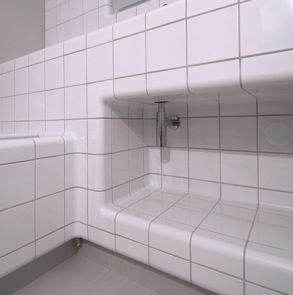 tiled bathroom furniture, modern design functional tiles available in 20 colors